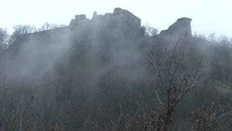 4K Slow Clouds Fog Timelapse with Citadel Castle Footage