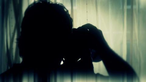 4K Spy Photographer Silhouette 5 stylized Footage