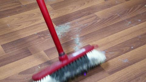 4K Sweeping Floor 1 Live Action