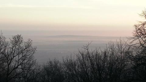 4 K Winter Sunrise in Nature 3 Footage