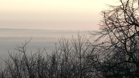 4 K Winter Sunrise in Nature 5 Footage