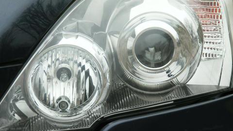 Car Lights Turning On Off Flashing Footage