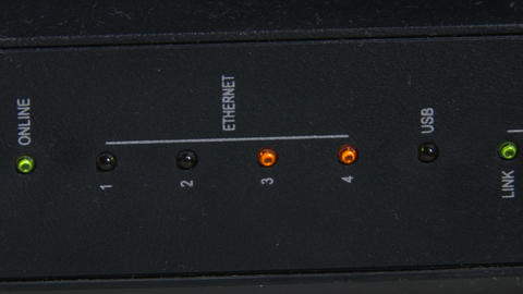 Main Internet Service Router 2 pan Footage