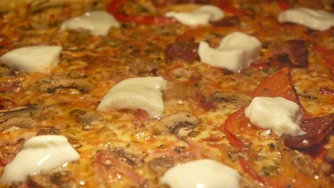 Baking pizza with mozzarella Footage