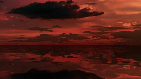 Colorful sea at dusk, Stock Animation