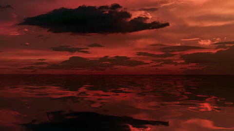 Sea at dusk, Stock Animation