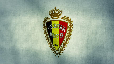 Belgium National Football Team Flag (Loopable) Animation