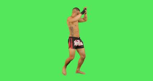 Thai Male Boxer Fighting stock footage