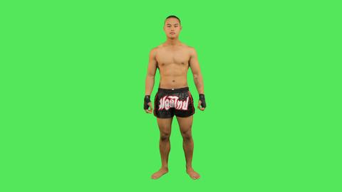 Thai boxer celebrating Live Action