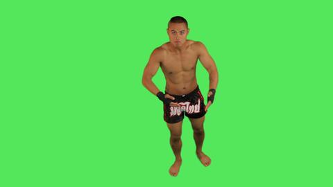 Portrait of Thai boxer Live Action
