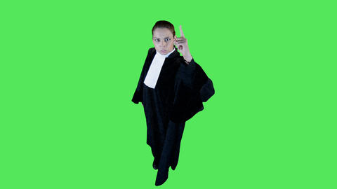 Female Lawyer Pointing Finger stock footage