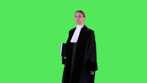 Female Lawyer Portrait stock footage