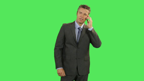 Business Male On Phone stock footage