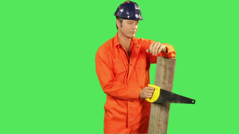 Portrait Of Male Construction Worker stock footage