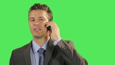 Business Male Talking On Mobile Phone stock footage