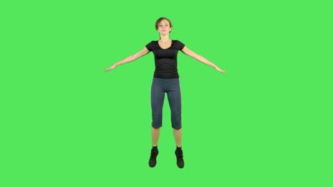 Female doing exercise Footage