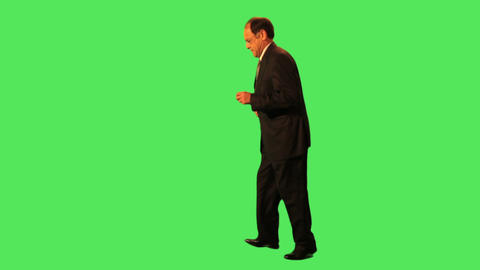 Senior Male In Suit Walking stock footage