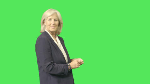 senior female portrait Footage