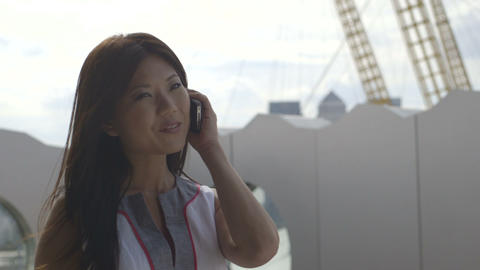 Woman Talking Mobile Phone stock footage
