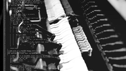 Piano Inner Mechanism Source Code Double Exposure stock footage