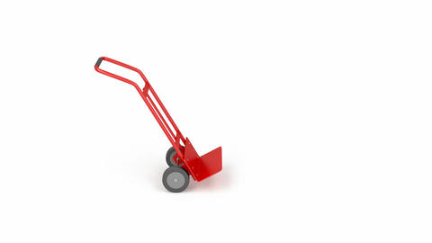 Metal empty hand truck Animation