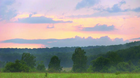 Cloudy Landscape stock footage