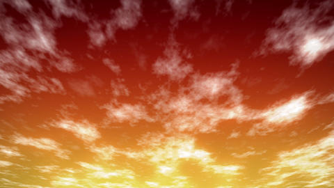 Loopable Sky Red HD stock footage