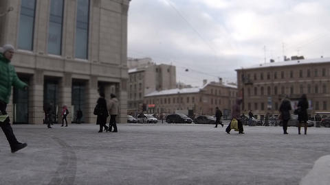 Hurrying people Footage