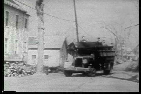 Archival black and white film describing how the n Footage