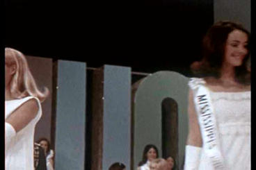 The Junior Miss Beauty Pageant Of 1971 stock footage