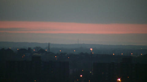 City at dawn, just before the sunrise (High Definition) Stock Video Footage