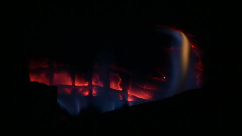 Fireplace 01E (Looping, High Definition) Stock Video Footage
