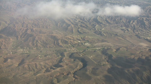 Aerial shot of the California's mountain landscape (High... Stock Video Footage