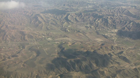 Aerial shot of the California's mountain landscape (High Definition) Footage