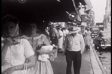 The Elderly Wander The Streets In 1950s St. Louis  stock footage