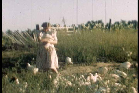 Home Movies Of A Texas Farm Family In 1952 stock footage