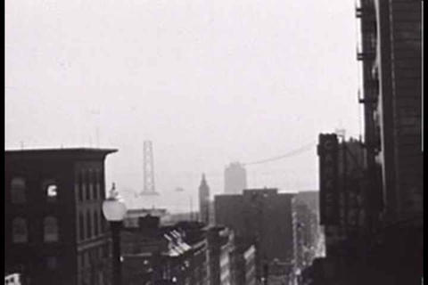 Amateur home movie footage of the building of the  Footage
