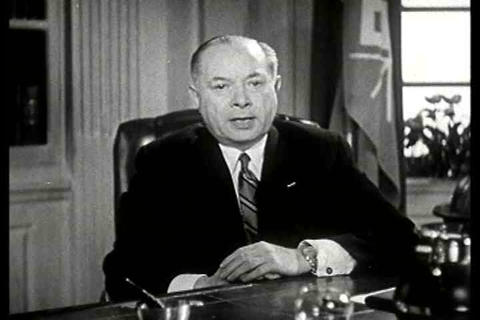 The founder of NBC television, David Sarnoff speak Live Action