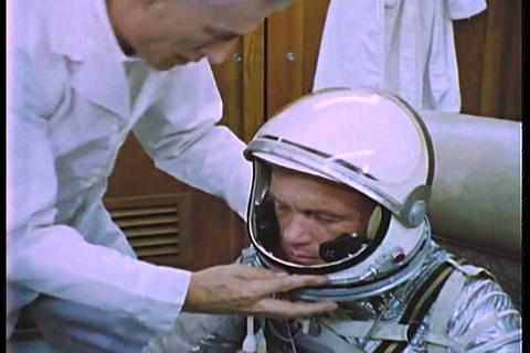 Astronaut John Glenn prepares for the Mercury miss Live Action