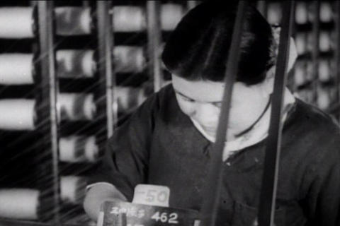 Japanese productivity and factories in the 1940s Footage