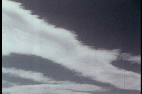 Time lapse of clouds in this archival 1954 film Footage