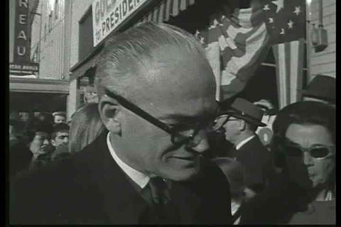 Goldwater continues his campaigning and speaks abo Footage