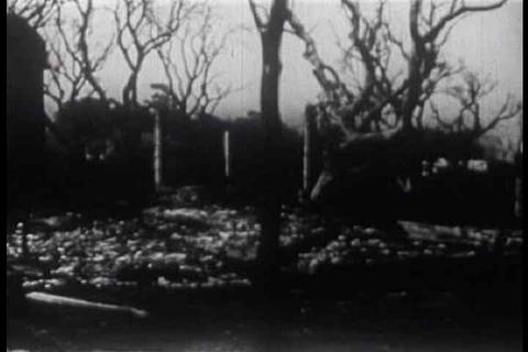 We see the ruins from the Berkeley fire of 1923 as Live Action
