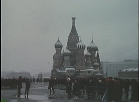 Home Movie Style Footage Of Moscow And Red Square stock footage