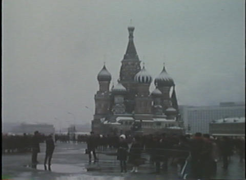 Home movie style footage of Moscow and Red Square Footage