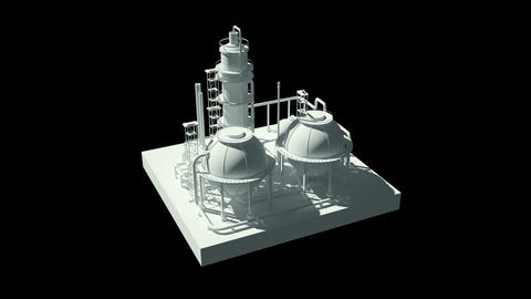 3D model of an industrial plant Animation