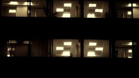 Business tower lights open tilt Footage