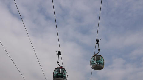 Cable Car Road stock footage