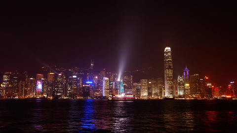 Night Hong-Kong #3 stock footage