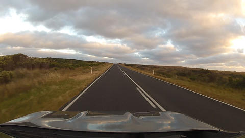 Driving on road #3 Footage
